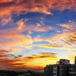 The sunset clouds of Beijing