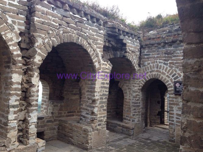 The inside of brick-built crenel, Badaling Great Wall