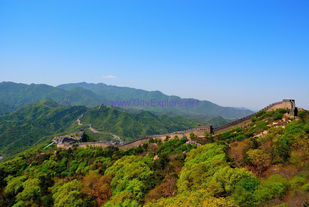 Badaling Great Wall winds on the ridge from southwest to northeast like a dragon
