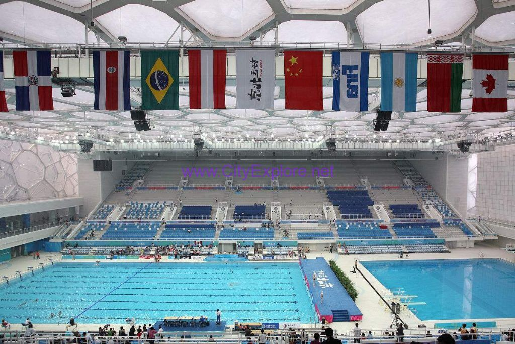 The Interior decoration of National Aquatics Center (Water Cube)