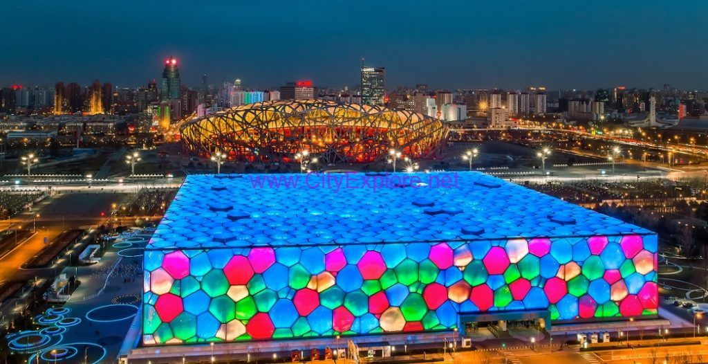 Water Cube and Bird's Nest, Beijing