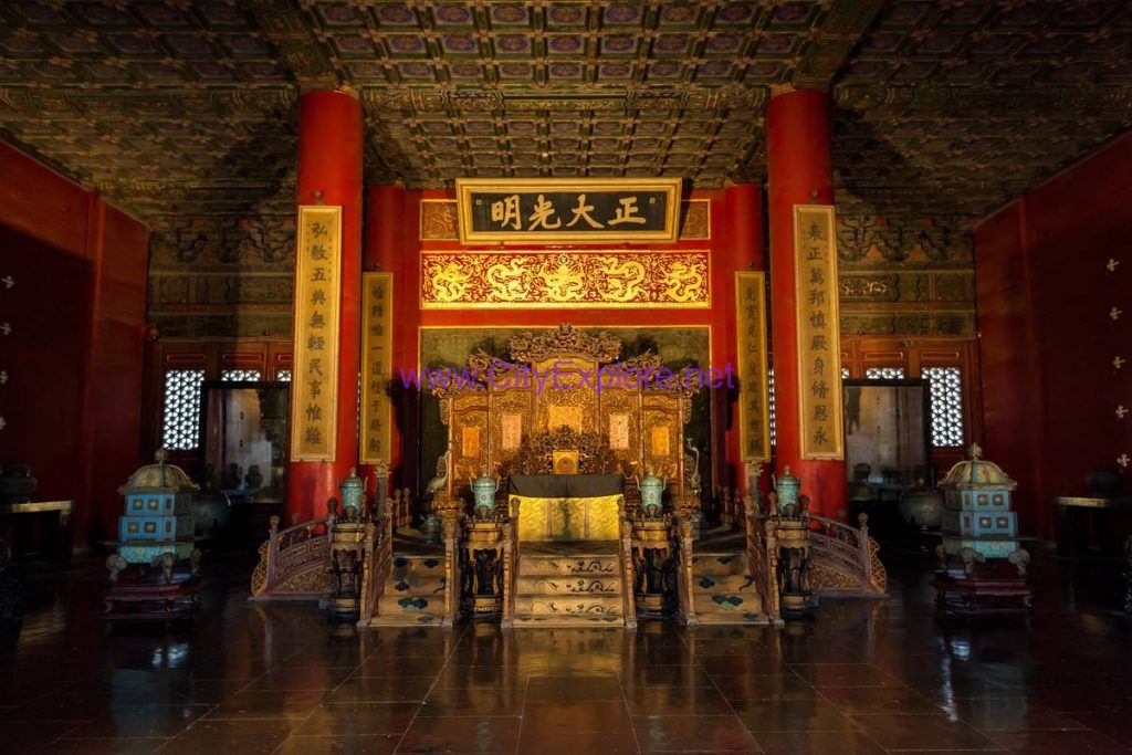 "The plaque ""Zheng Da Guang Ming"" in the Qianqing Palace(the Palace of Heavenly Purity)"