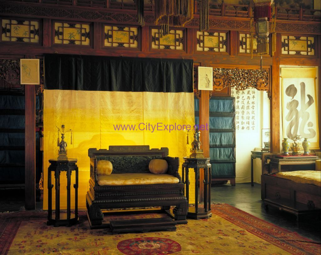 The East Warm Chamber of the Hall of Mental Cultivation, Where the joint empresses Dowager Ci Xi and Ci An supervised the court in the late Qing Dynasty