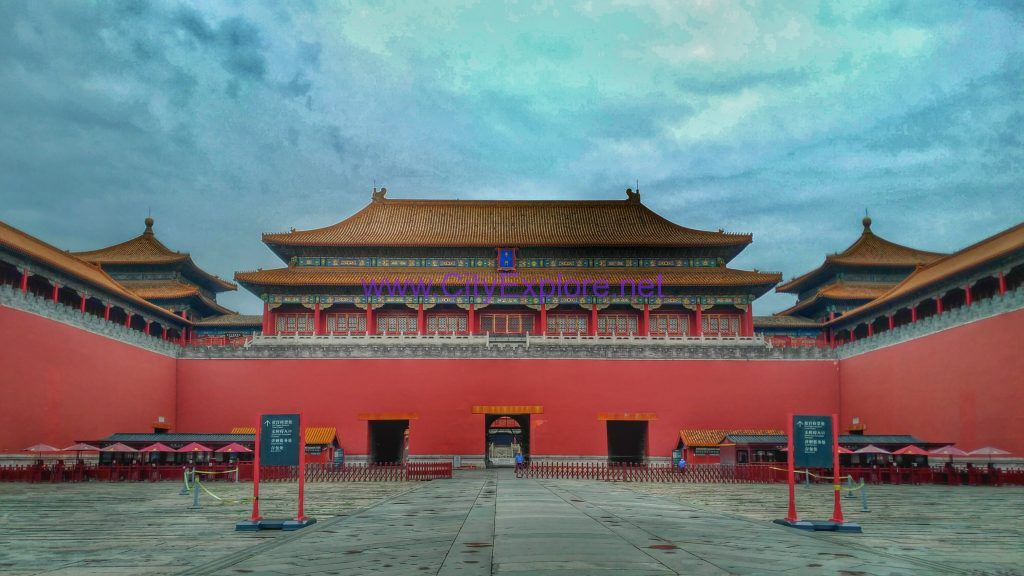 Meridian Gate, the main entrance of the Forbidden City