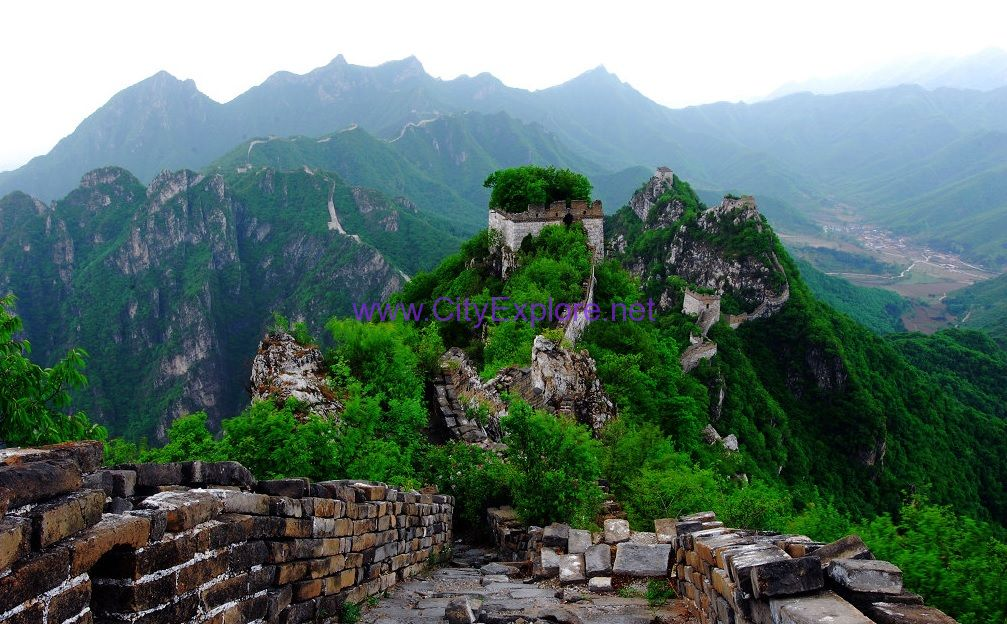 magnificent and precipitous Jiankou Great Wall