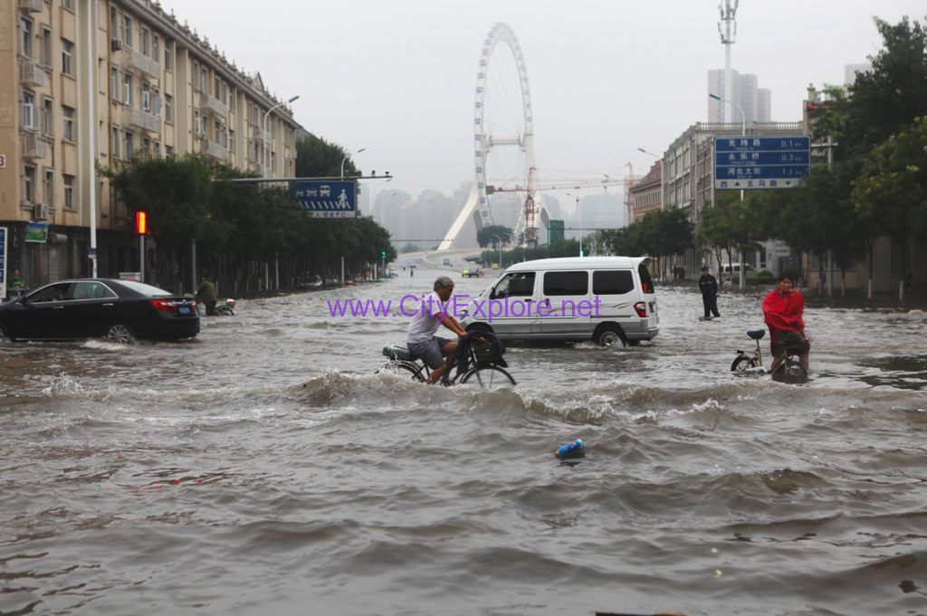 One Street of Tianjin After a Rainstorm