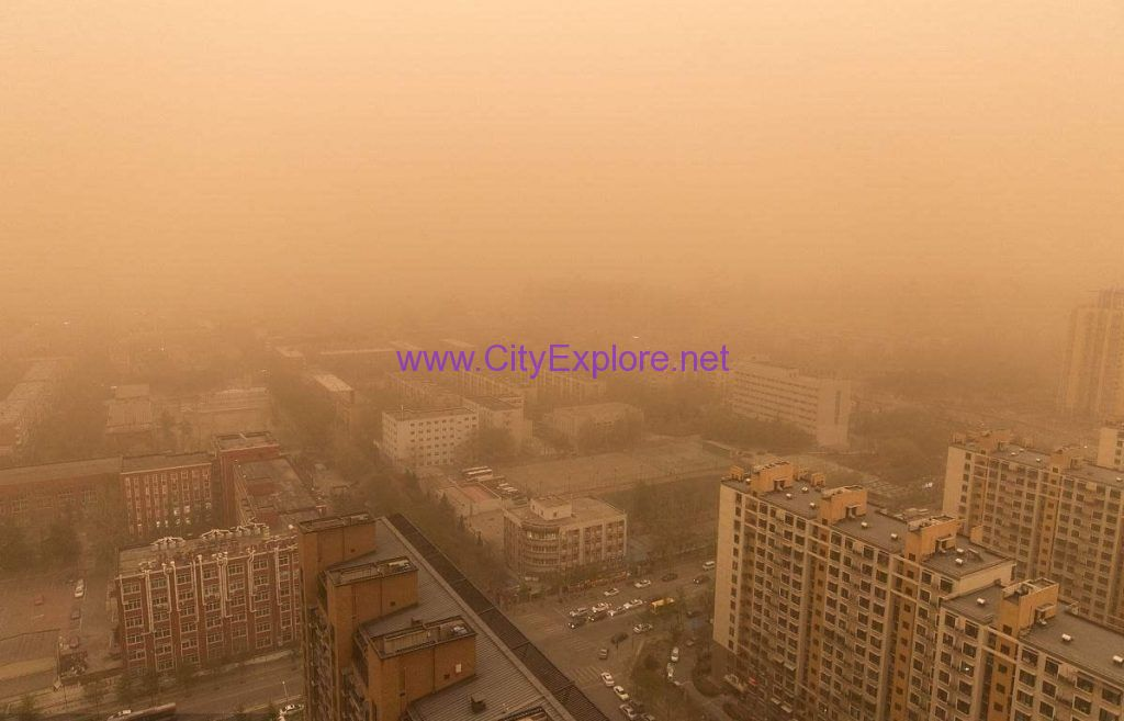 Sandstorm weather of Tianjin was caused by influence of Sandstorm Process in Northwest China , occurs mostly in spring.