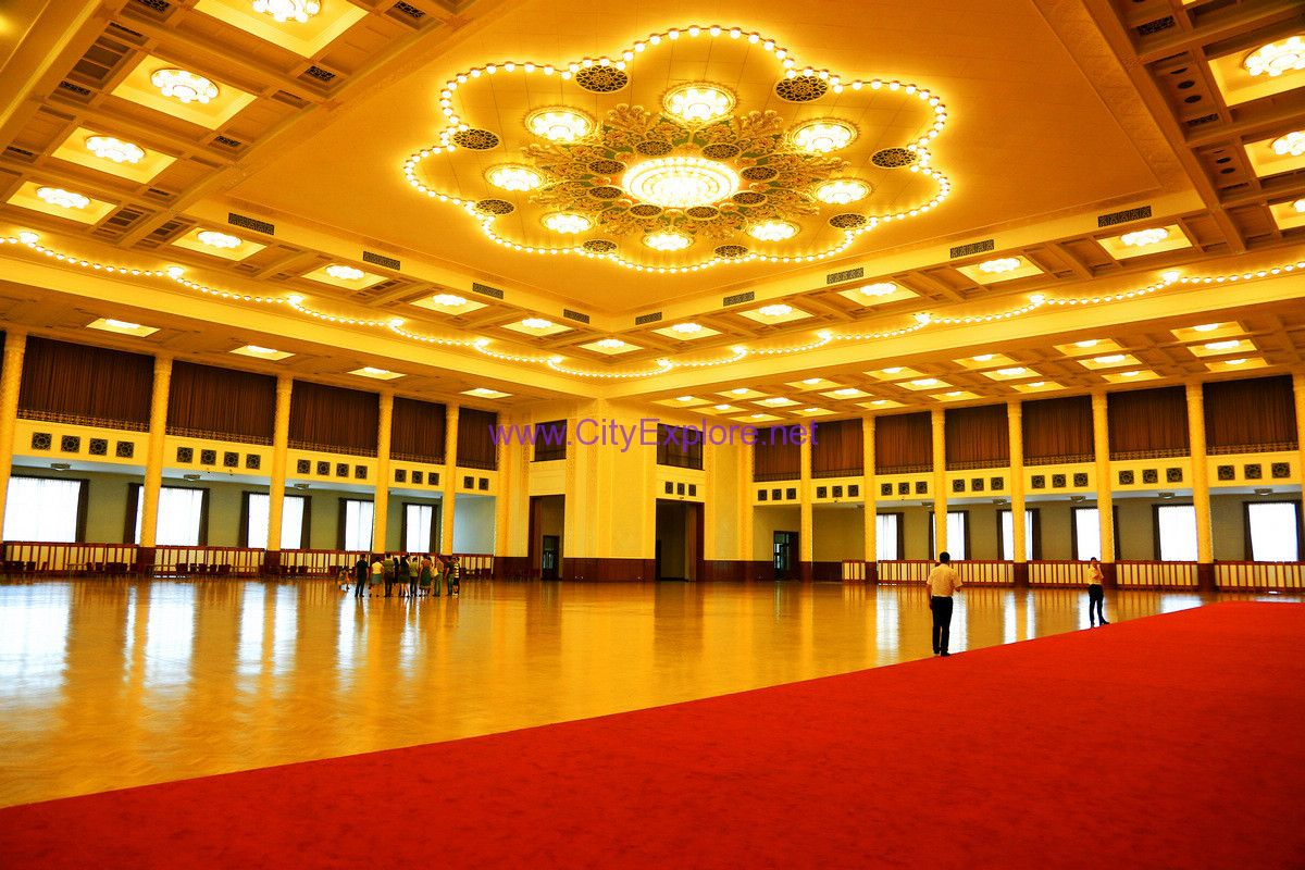 The grand banquet hall