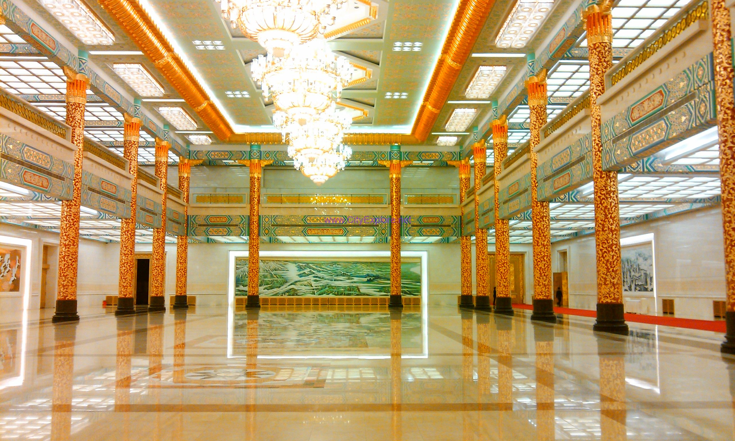 The golden hall in The Great Hall of the People