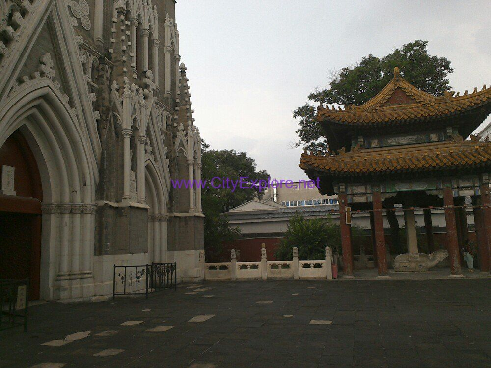 ancient pavillion of Xishiku Church